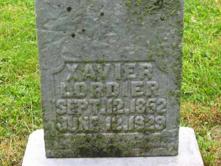 LORDIER, XAVIER - Scioto County, Ohio | XAVIER LORDIER - Ohio Gravestone Photos
