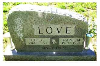 LOVE, CECIL - Scioto County, Ohio | CECIL LOVE - Ohio Gravestone Photos