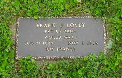 LOVEY, FRANK J. - Scioto County, Ohio | FRANK J. LOVEY - Ohio Gravestone Photos