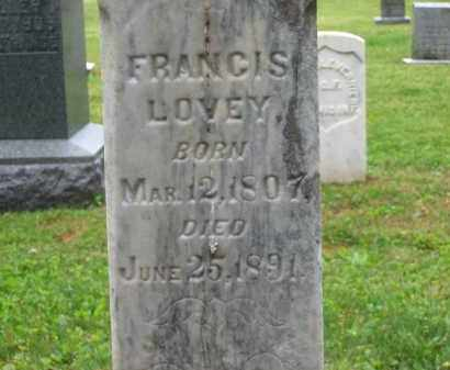 LOVEY, FRANCIS - Scioto County, Ohio | FRANCIS LOVEY - Ohio Gravestone Photos