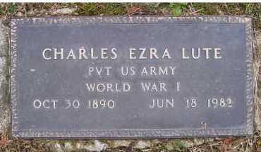 LUTE, CHARLES EZRA - Scioto County, Ohio | CHARLES EZRA LUTE - Ohio Gravestone Photos