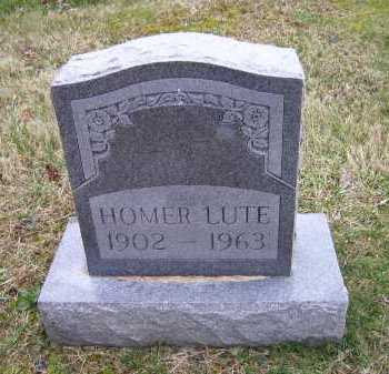 LUTE, HOMER - Scioto County, Ohio | HOMER LUTE - Ohio Gravestone Photos