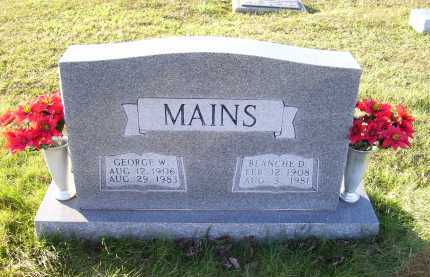 MAINS, GEORGE W. - Scioto County, Ohio | GEORGE W. MAINS - Ohio Gravestone Photos