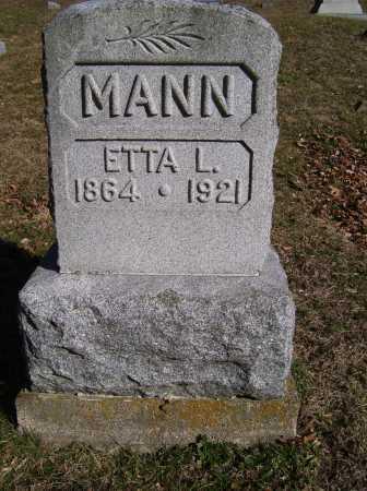 MANN, ETTA L. - Scioto County, Ohio | ETTA L. MANN - Ohio Gravestone Photos