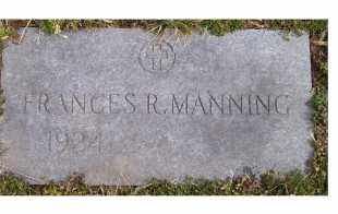 MANNING, FRANCES R. - Scioto County, Ohio | FRANCES R. MANNING - Ohio Gravestone Photos