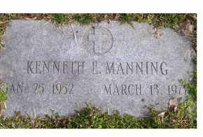 MANNING, KENNETH E. - Scioto County, Ohio | KENNETH E. MANNING - Ohio Gravestone Photos