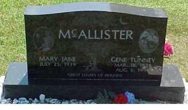 MCALLISTER, GENE TUNNEY - Scioto County, Ohio | GENE TUNNEY MCALLISTER - Ohio Gravestone Photos