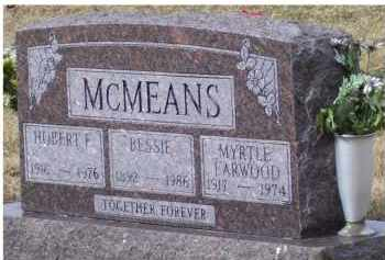 EARWOOD MCMEANS, MYRTLE - Scioto County, Ohio | MYRTLE EARWOOD MCMEANS - Ohio Gravestone Photos