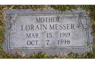 MESSER, LORAIN - Scioto County, Ohio | LORAIN MESSER - Ohio Gravestone Photos