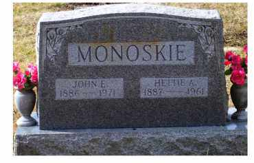 MONOSKIE, HETTIE A. - Scioto County, Ohio | HETTIE A. MONOSKIE - Ohio Gravestone Photos