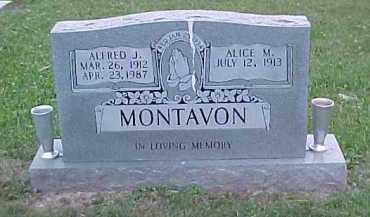 MONTAVON, ALFRED J. - Scioto County, Ohio | ALFRED J. MONTAVON - Ohio Gravestone Photos