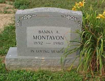 MONTAVON, BANNA A. - Scioto County, Ohio | BANNA A. MONTAVON - Ohio Gravestone Photos