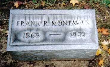 MONTAVON, FRANK R. - Scioto County, Ohio | FRANK R. MONTAVON - Ohio Gravestone Photos