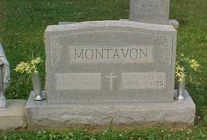 MONTAVON, LAWRENCE M. - Scioto County, Ohio | LAWRENCE M. MONTAVON - Ohio Gravestone Photos