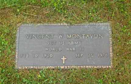 MONTAVON, VINCENT W. - Scioto County, Ohio | VINCENT W. MONTAVON - Ohio Gravestone Photos