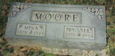 MOORE, MINA - Scioto County, Ohio | MINA MOORE - Ohio Gravestone Photos