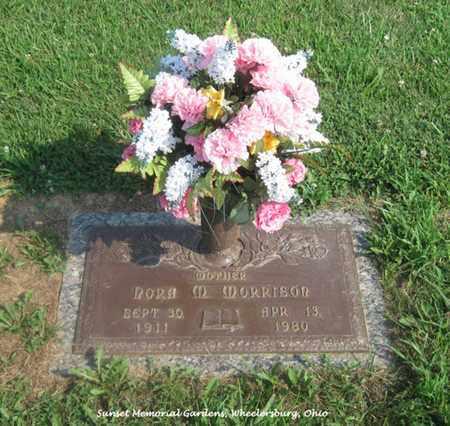 BIARS MORRISON, NORA - Scioto County, Ohio | NORA BIARS MORRISON - Ohio Gravestone Photos