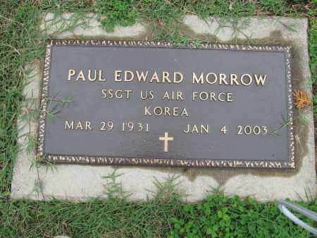 MORROW, PAUL EDWARD - Scioto County, Ohio | PAUL EDWARD MORROW - Ohio Gravestone Photos