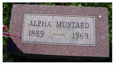 MUSTARD, ALPHA - Scioto County, Ohio | ALPHA MUSTARD - Ohio Gravestone Photos