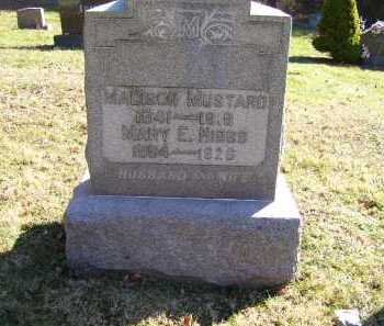 MUSTARD, MARY E. - Scioto County, Ohio | MARY E. MUSTARD - Ohio Gravestone Photos