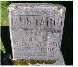 MUSTARD, SARAH - Scioto County, Ohio | SARAH MUSTARD - Ohio Gravestone Photos