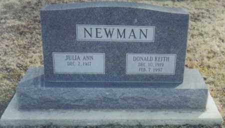 NEWMAN, JULIA ANN - Scioto County, Ohio | JULIA ANN NEWMAN - Ohio Gravestone Photos