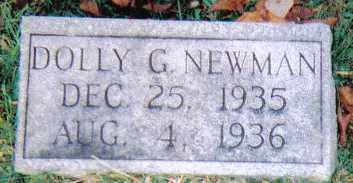 NEWMAN, DOLLY G. - Scioto County, Ohio | DOLLY G. NEWMAN - Ohio Gravestone Photos