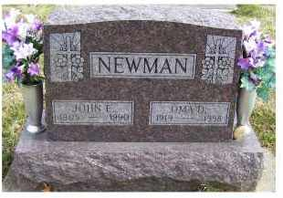 NEWMAN, JOHN E. - Scioto County, Ohio | JOHN E. NEWMAN - Ohio Gravestone Photos