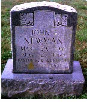 NEWMAN, JOHN F. - Scioto County, Ohio | JOHN F. NEWMAN - Ohio Gravestone Photos