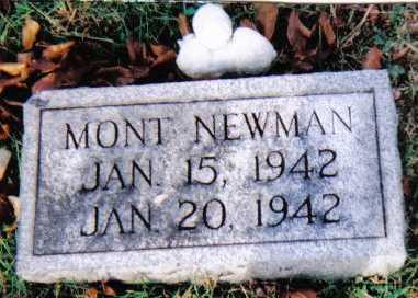NEWMAN, MONT - Scioto County, Ohio | MONT NEWMAN - Ohio Gravestone Photos