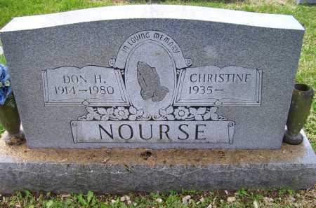 NOURSE, DON H. - Scioto County, Ohio | DON H. NOURSE - Ohio Gravestone Photos