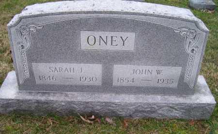 ONEY, SARAH J. - Scioto County, Ohio | SARAH J. ONEY - Ohio Gravestone Photos