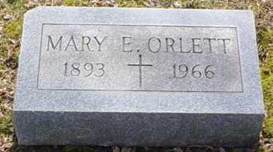 ORLETT, MARY E. - Scioto County, Ohio   MARY E. ORLETT - Ohio Gravestone Photos