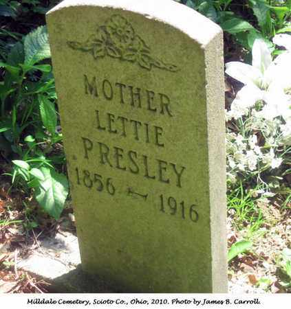 PRESLEY, LETTIE - Scioto County, Ohio | LETTIE PRESLEY - Ohio Gravestone Photos