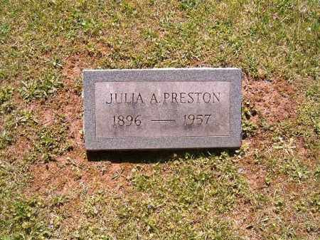 PRESTON, JULIA     A - Scioto County, Ohio | JULIA     A PRESTON - Ohio Gravestone Photos