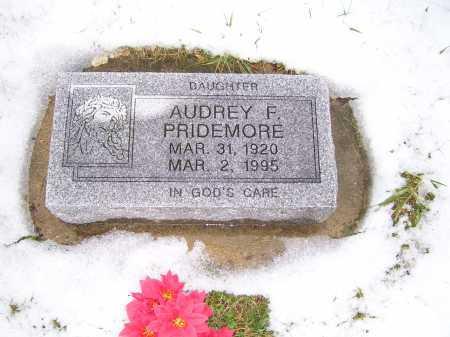 PRIDEMORE, AUDREY F. - Scioto County, Ohio | AUDREY F. PRIDEMORE - Ohio Gravestone Photos