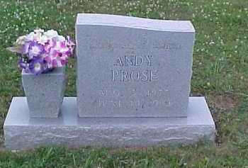PROSE, ANDY - Scioto County, Ohio | ANDY PROSE - Ohio Gravestone Photos
