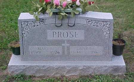 PROSE, MARY E. - Scioto County, Ohio | MARY E. PROSE - Ohio Gravestone Photos