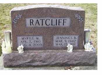 RATCLIFF, JENNINGS B. - Scioto County, Ohio | JENNINGS B. RATCLIFF - Ohio Gravestone Photos