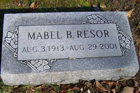 RESOR, MABEL B. - Scioto County, Ohio | MABEL B. RESOR - Ohio Gravestone Photos
