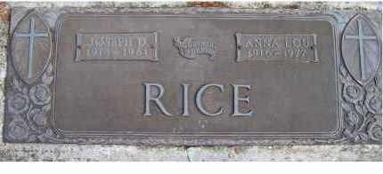 RICE, JOSEPH D. - Scioto County, Ohio | JOSEPH D. RICE - Ohio Gravestone Photos