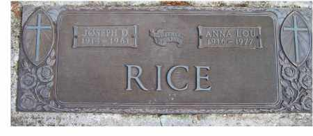 RICE, ANNA LOU - Scioto County, Ohio | ANNA LOU RICE - Ohio Gravestone Photos