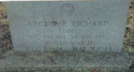 RICHARD, ARCHIE E. - Scioto County, Ohio | ARCHIE E. RICHARD - Ohio Gravestone Photos