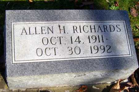 RICHARDS, ALLEN H. - Scioto County, Ohio | ALLEN H. RICHARDS - Ohio Gravestone Photos