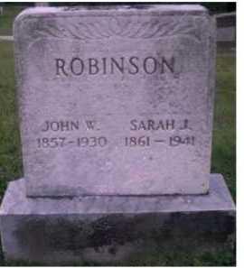 ROBINSON, JOHN W. - Scioto County, Ohio | JOHN W. ROBINSON - Ohio Gravestone Photos