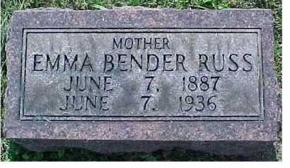 BENDER RUSS, EMMA - Scioto County, Ohio | EMMA BENDER RUSS - Ohio Gravestone Photos