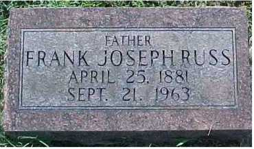 RUSS, FRANK JOSEPH - Scioto County, Ohio | FRANK JOSEPH RUSS - Ohio Gravestone Photos