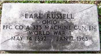 RUSSELL, EARL - Scioto County, Ohio | EARL RUSSELL - Ohio Gravestone Photos