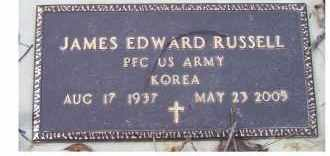 RUSSELL, JAMES EDWARD - Scioto County, Ohio | JAMES EDWARD RUSSELL - Ohio Gravestone Photos