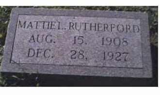 RUTHERFORD, MATTIE L. - Scioto County, Ohio | MATTIE L. RUTHERFORD - Ohio Gravestone Photos
